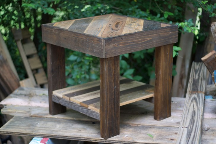 Permalink to Reclaimed Wood Side Table Etsy