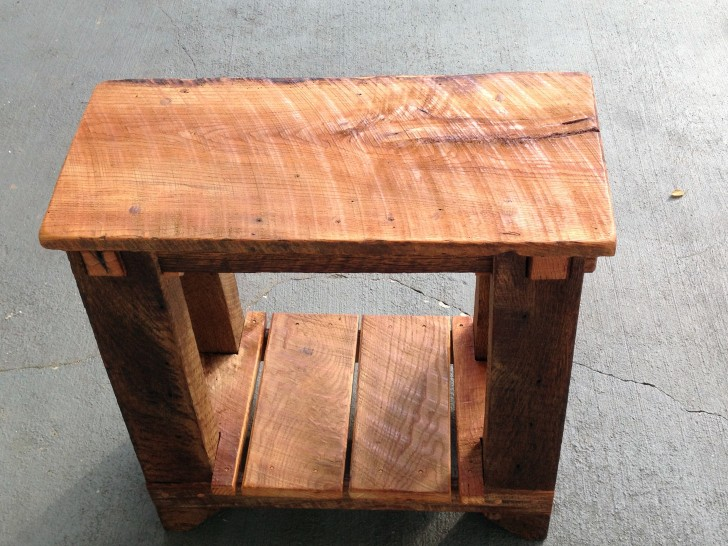Permalink to Reclaimed Wood Side Table Restoration Hardware