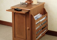 Recliner Side Table With Storage