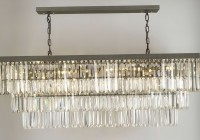 rectangular glass drop chandelier