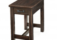 Rectangular Side Table With Drawers