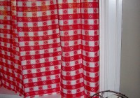 Red And White Checkered Curtains