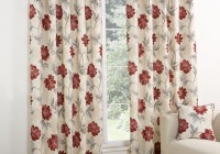 Red And White Patterned Curtains