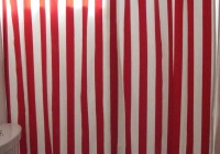 Red And White Striped Curtains