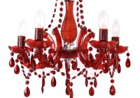 Red Crystal Chandelier Lighting
