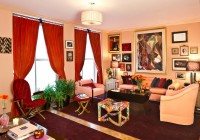 Red Curtain For Living Room
