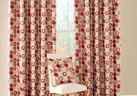 Red Geometric Pattern Curtains