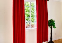 Red Grommet Curtain Panels