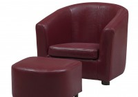 Red Leather Chair And Ottoman