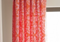 Red Orange Curtain Panels