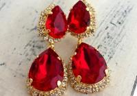 Red Swarovski Crystal Chandelier Earrings