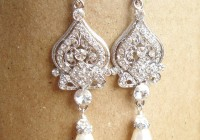 Rhinestone Chandelier Earrings Wedding