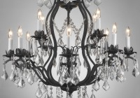 Rod Iron Chandeliers With Crystals