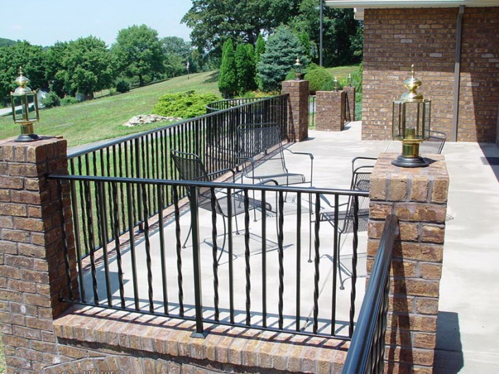 Permalink to Rod Iron Deck Railing