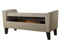 Rolled Arm Storage Bench