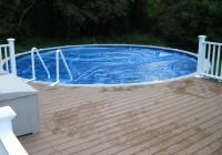 Round Above Ground Pool Deck Plans