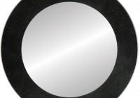 Round Black Framed Mirror