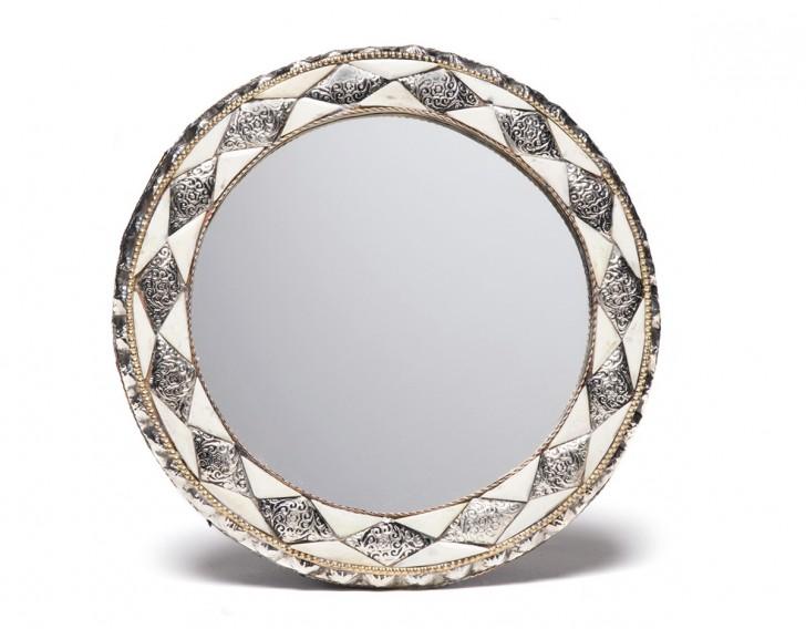 Permalink to Round Bone Inlay Mirror