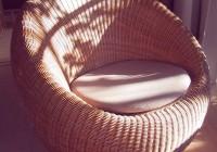 Round Cushion Chair Rattan