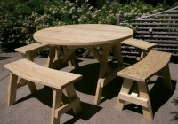 Round Dining Table With Curved Bench