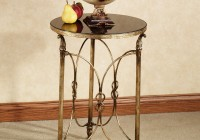 Round Gold Accent Table