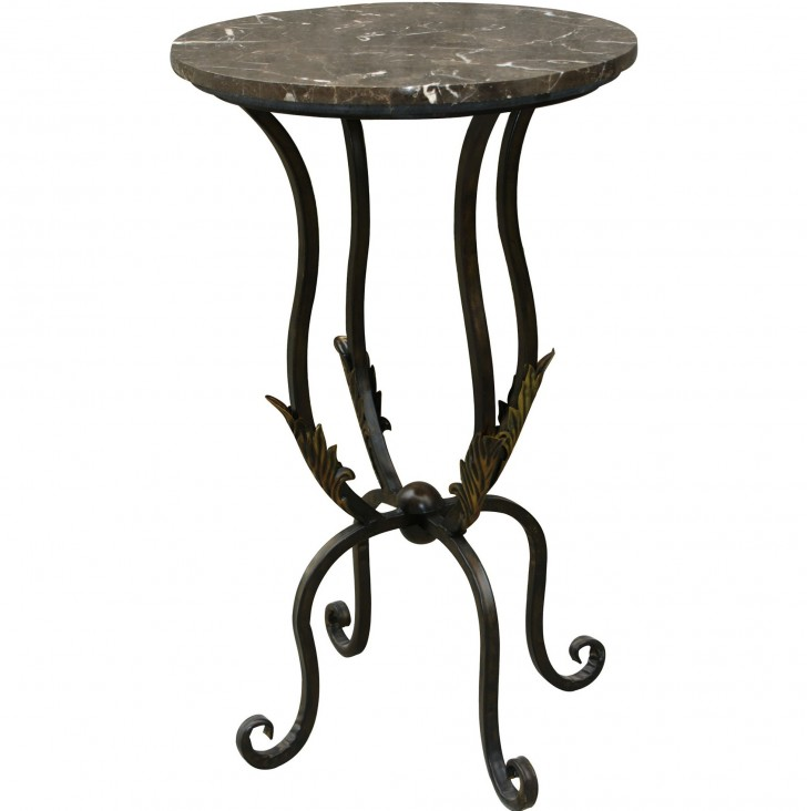 Permalink to Round Marble Top Side Table
