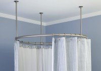 Round Shower Curtain Rod For Clawfoot Tub