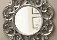 Round Silver Framed Mirror