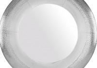 Round Silver Wall Mirror