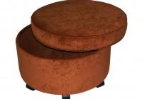 Round Storage Ottoman Large