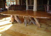 Rustic Wood Dining Bench