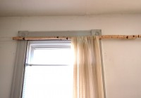 Rustic Wooden Curtain Rods