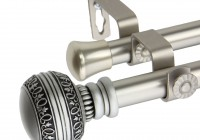 Satin Nickel Curtain Rods