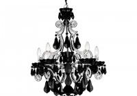 schonbek black crystal chandelier