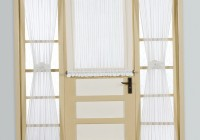 sheer door panel curtains