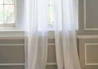 sheer white window curtains