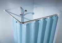 Shower Curtain Rod For Slanted Wall