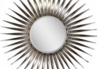 Silver Sunburst Mirror Wall Decor