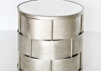 Silver Tree Stump Side Table