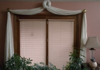 sliding glass door curtains over blinds