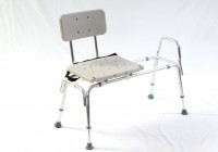 Sliding Transfer Bench With Commode Opening