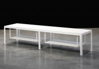 Slim Console Table White