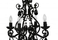 small black chandelier for bathroom