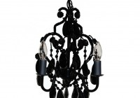 small black crystal chandelier