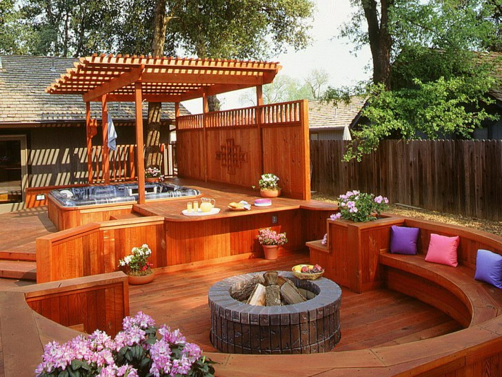Permalink to Small Hot Tub Deck Ideas