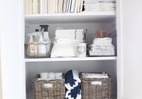 Small Linen Closet Organization Ideas