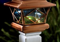 solar powered deck post lights