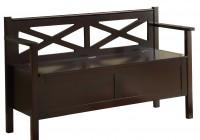 Solid Wood Storage Bench