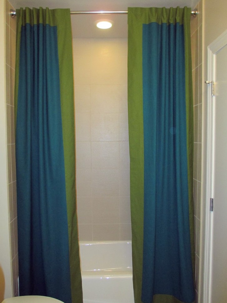 Permalink to Split Shower Curtains With Valance