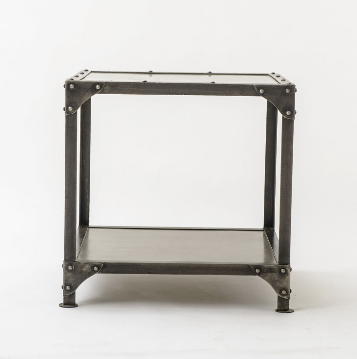 Permalink to Square Metal Accent Table